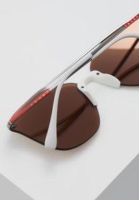 Prada Linea Rossa - Solbriller - gunmetal/dark brown mirror/gold - 4