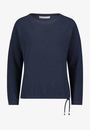 MIT STREIFEN - Sweatshirt - navy blue