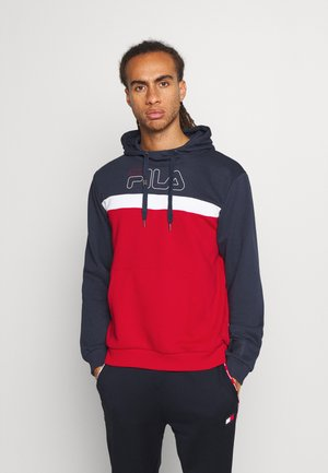 LAURITZ HOODY - Hoodie - true red/black iris/bright white