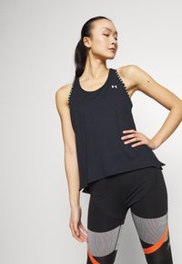 Under Armour - KNOCKOUT TANK - Funktionsshirt - black/white - 0