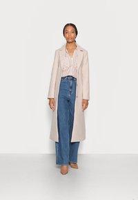 TOM TAILOR DENIM - STRIPED COZY  - Button-down blouse - grey white vertical stripe - 1