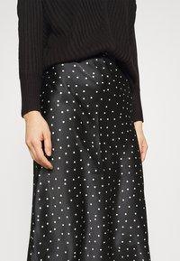 Abercrombie & Fitch - MIDI SKIRT - A-line skirt - black - 4