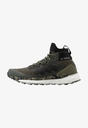 TERREX FREE HIKER - Hiking shoes - raw khaki/core black