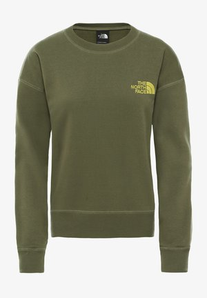 WOMENS PARKS SLIGHTLY CROPPED CREW - Sweatshirts - burnt olive