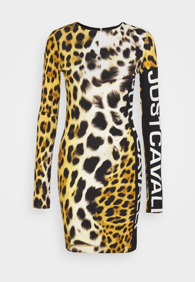 Just Cavalli - Žerzejové šaty - brown