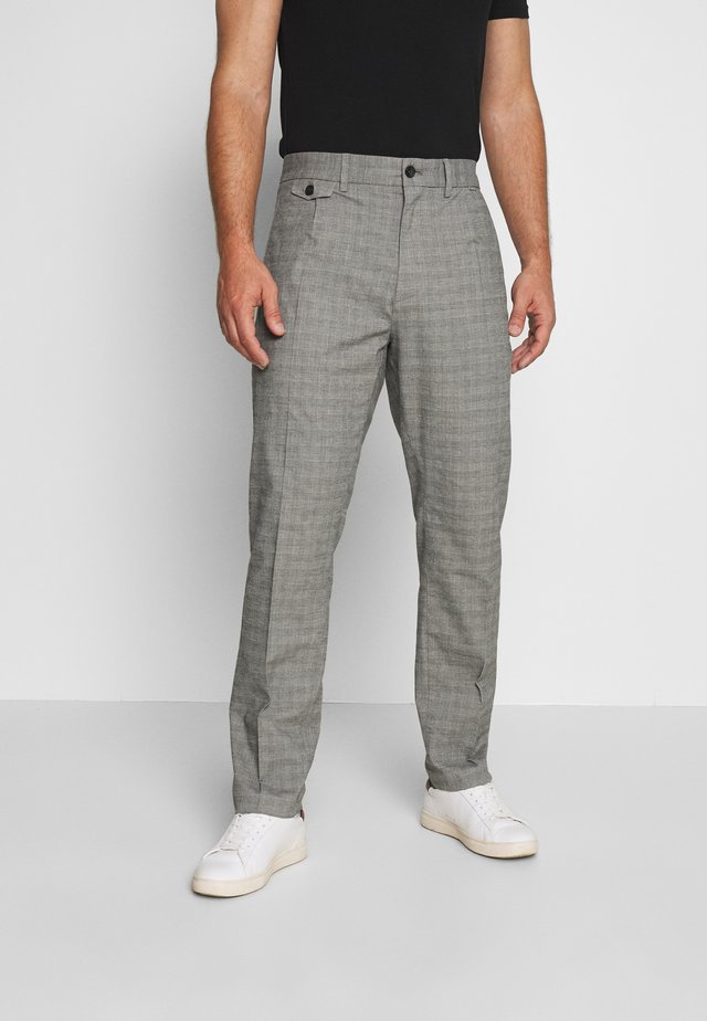 REFINED CHECK PANT - Kangashousut - grey