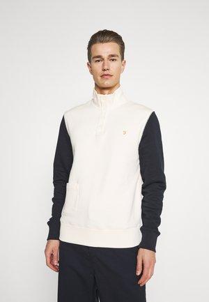 SCORSESE - Zip-up hoodie - cream