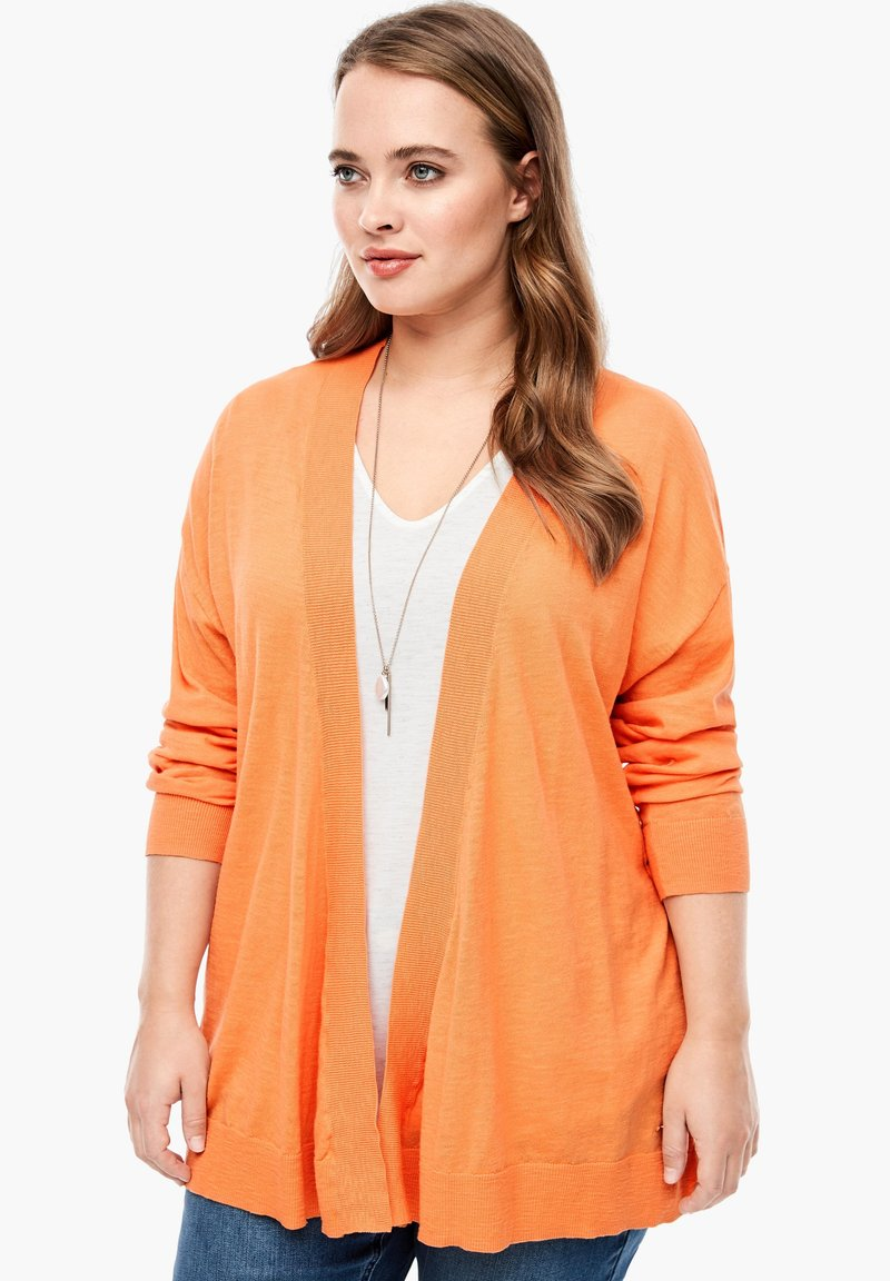 Triangle - MET EEN OPEN VOORPAND - Cardigan - orange