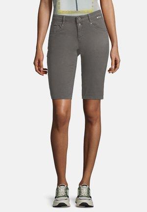 Denim shorts - gunmetal