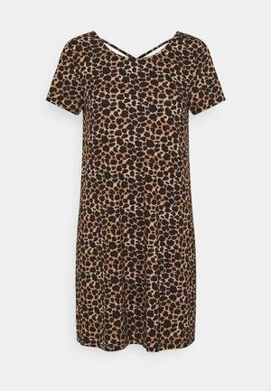 ONLBERA BACK LACEUP DRESS - Jersey dress - black