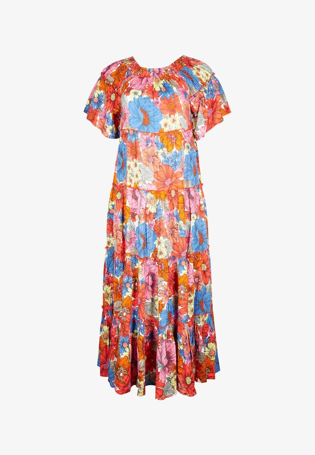 BARDOT FLOWING FLORAL PINK MAXI DRESS - Maxi-jurk - pink