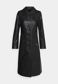 Who What Wear - BUTTON FRONT 70S COAT - Frakker / klassisk frakker - black - 5