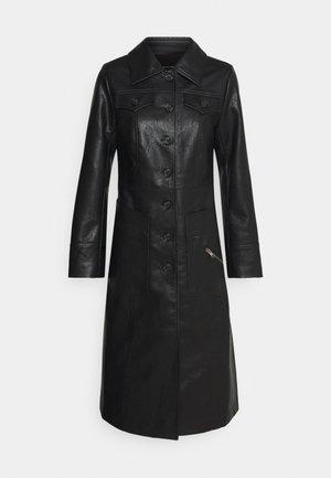 BUTTON FRONT 70S COAT - Classic coat - black