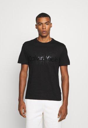 MULTI LOGO  - Print T-shirt - black