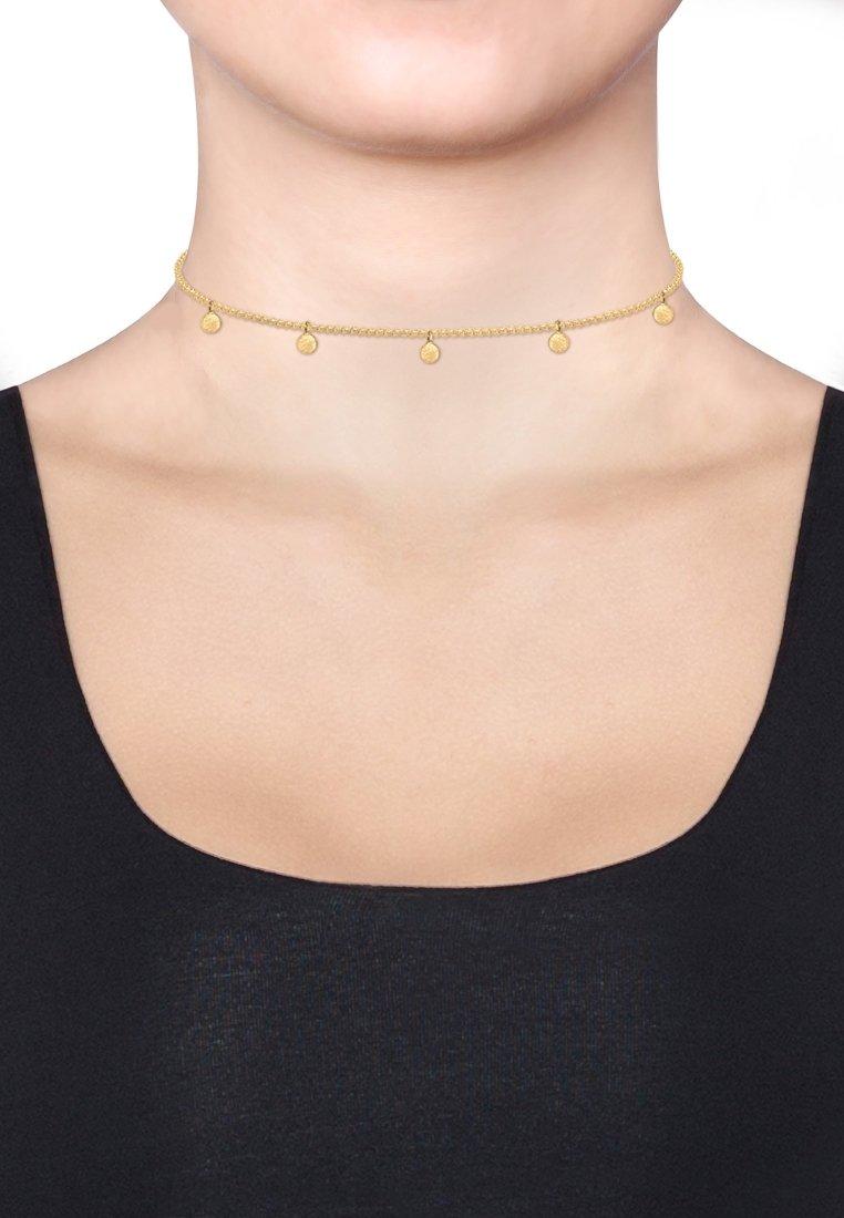 Elli - GEO KREIS BASIC MATT COIN - Necklace - gold-coloured
