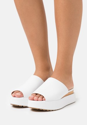 CAINE - Heeled mules - white