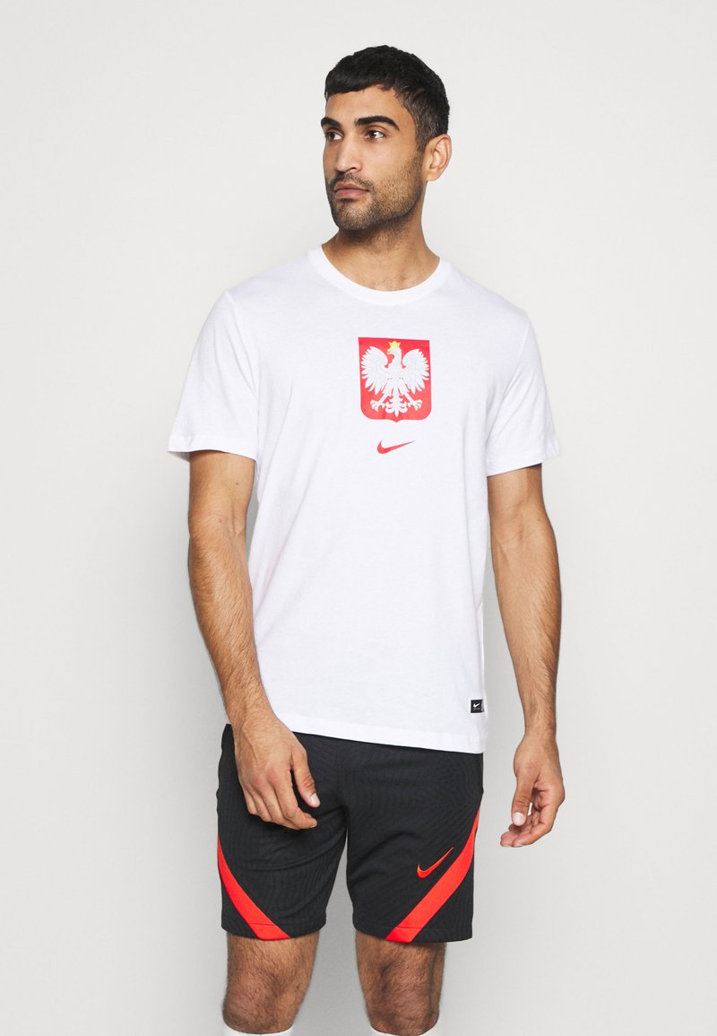 Nike Performance - POLEN TEE EVERGREEN CREST - Camiseta estampada - white