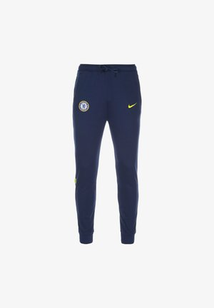 FC CHELSEA TRAVEL - Tracksuit bottoms - blue void / opti yellow