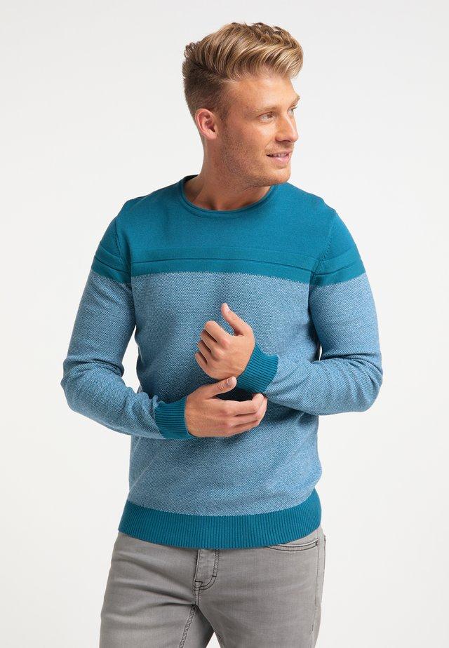 Pullover - petrol blau