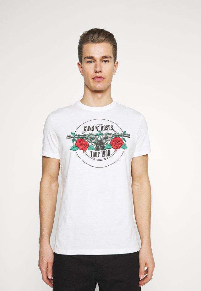 GUNS ROSES - T-shirts med print - ivory