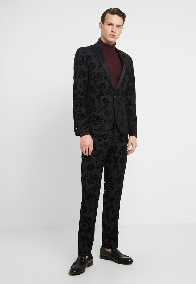 Twisted Tailor - KATRIN SUIT FLORAL FLOCK - Completo - charcoal