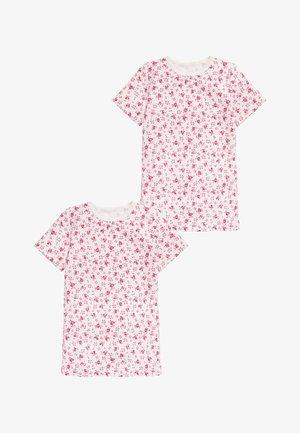 2 PACK SHORT SLEEVED PRINTED THERMAL TOPS - Pyžamový top - pink