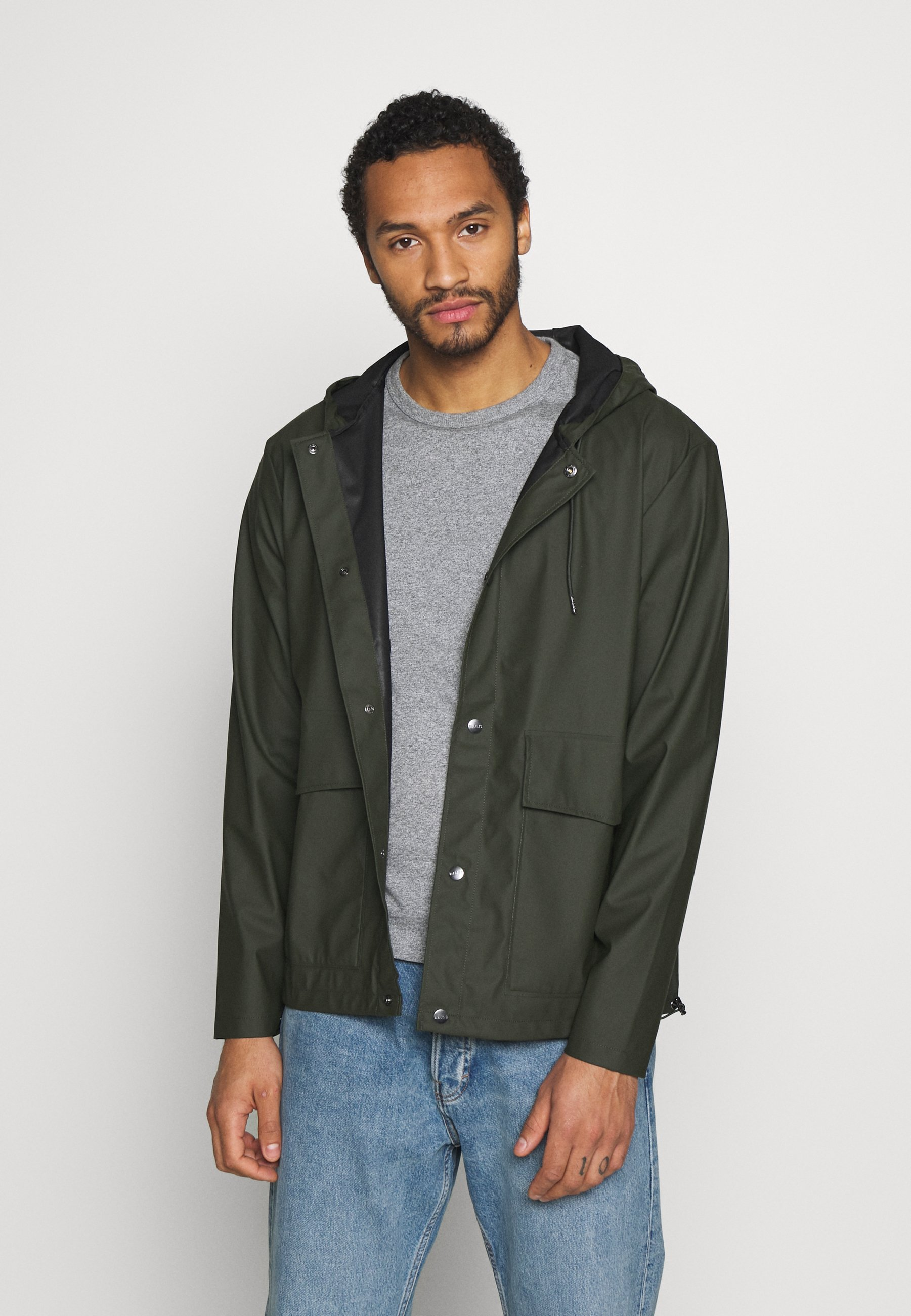 Men SHORT HOODED COAT UNISEX - Waterproof jacket