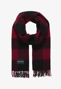 Calvin Klein Jeans - BOYS LOGO PATCH SCARF - Sjaal - red - 0