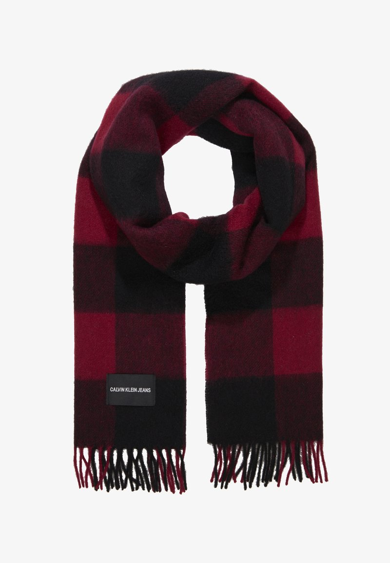 Calvin Klein Jeans - BOYS LOGO PATCH SCARF - Sjaal - red