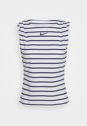 MARIA DRY TANK - Sports shirt - white/blackened blue