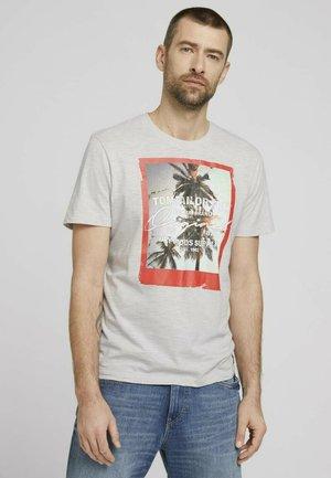FOTOPRINT - T-shirt med print - white melange