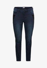 Sheego - Slim fit jeans - blue black denim - 4