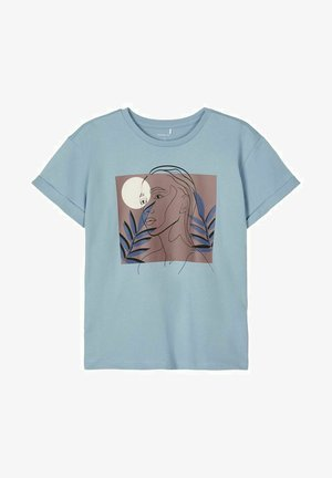 T-Shirt print - dusty blue