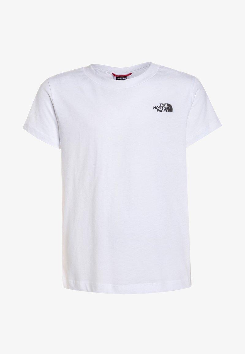 The North Face - SIMPLE DOME TEE UNISEX - Camiseta estampada - white