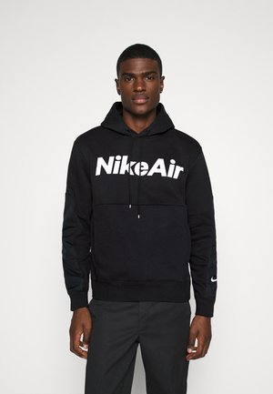 AIR HOODIE - Bluza z kapturem - black/white