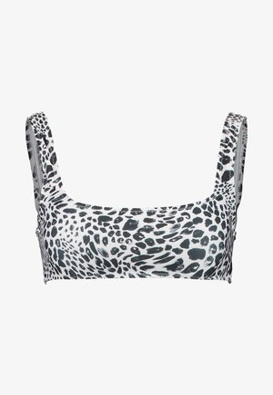 ANIMAL SPOT SQUARE NECK CROP - Top de bikini - monochrome
