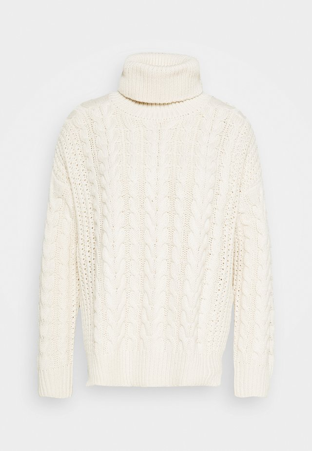 BIG NECK CABLE - Jumper - off white
