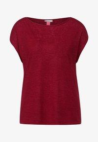 Street One - IM LEINEN LOOK - Basic T-shirt - rot - 3