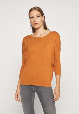 MILA NECK - Jumper - adobe