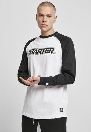 STARTER RAGLAN LONGSLEEVE - Pitkähihainen paita - white/black