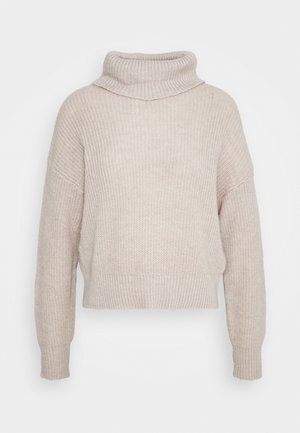 Roll neck- wool blend - Maglione - grey