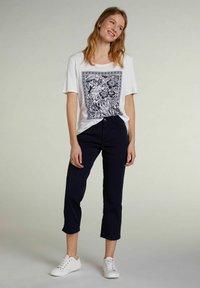 Oui - Print T-shirt - optic white - 1