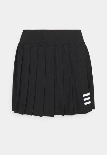 CLUB PLEATSKIRT - Sports skirt - black/white