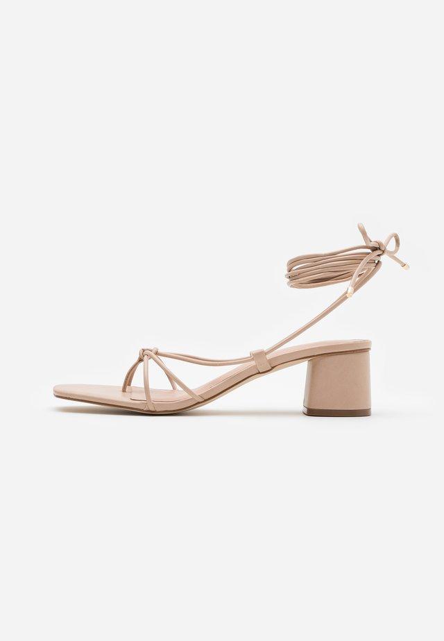 MARAKET - T-bar sandals - bone