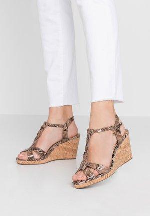 WIDE FIT KOALA - High heeled sandals - beige