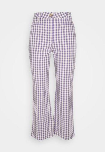 MINA TROUSERS - Spodnie materiałowe - lilac