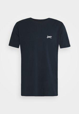 SCISSOR SLIM TEE - Basic T-shirt - navy blazer