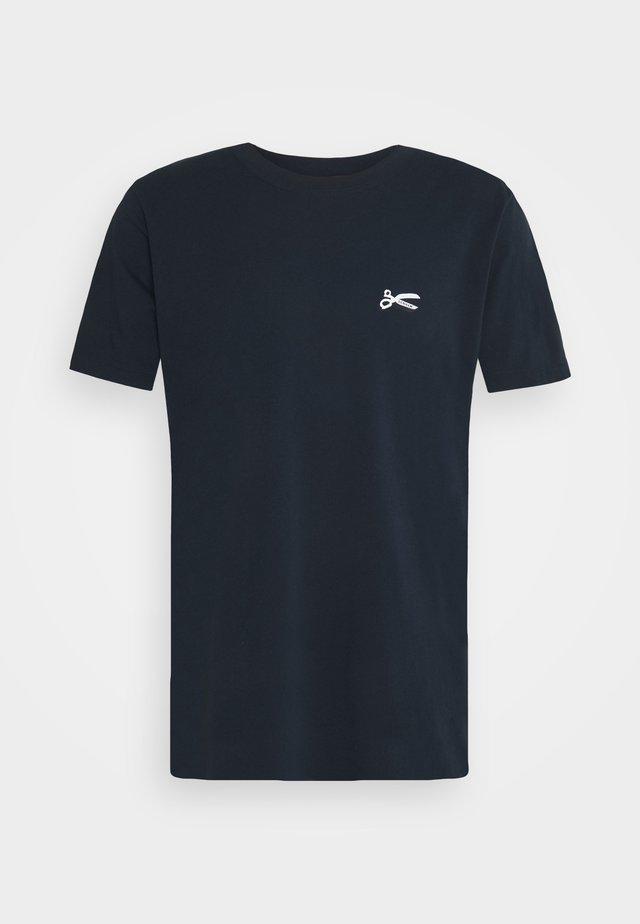 SCISSOR SLIM TEE - T-shirt basic - navy blazer
