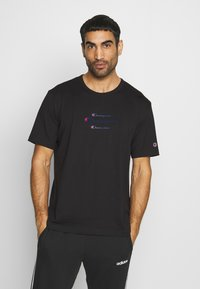 Champion - ROCHESTER WORKWEAR CREWNECK  - Print T-shirt - black - 0