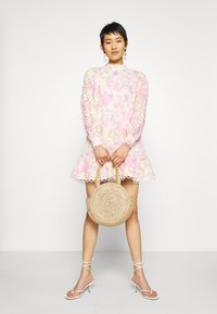 River Island - HIGH NECK BROIDERY DRESS - Day dress - multi-coloured - 1